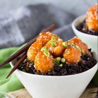 Baked Orange Cauliflower | SimpleHealthyKitchen.com