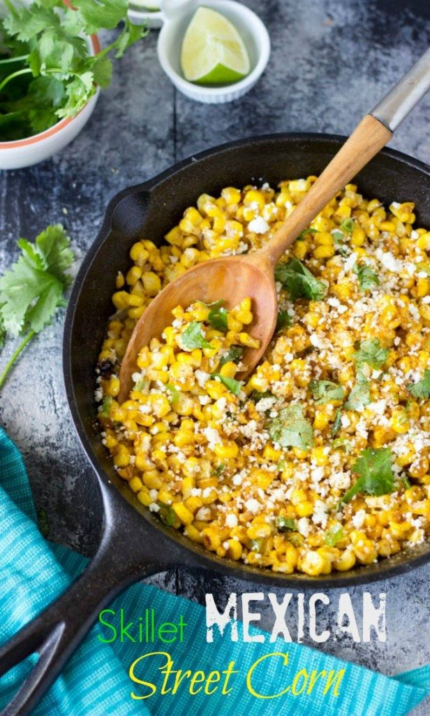 Skillet Mexican Street Corn | Simple Healthy Kitchen