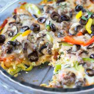 Sausage Zoodle Pizza Bake