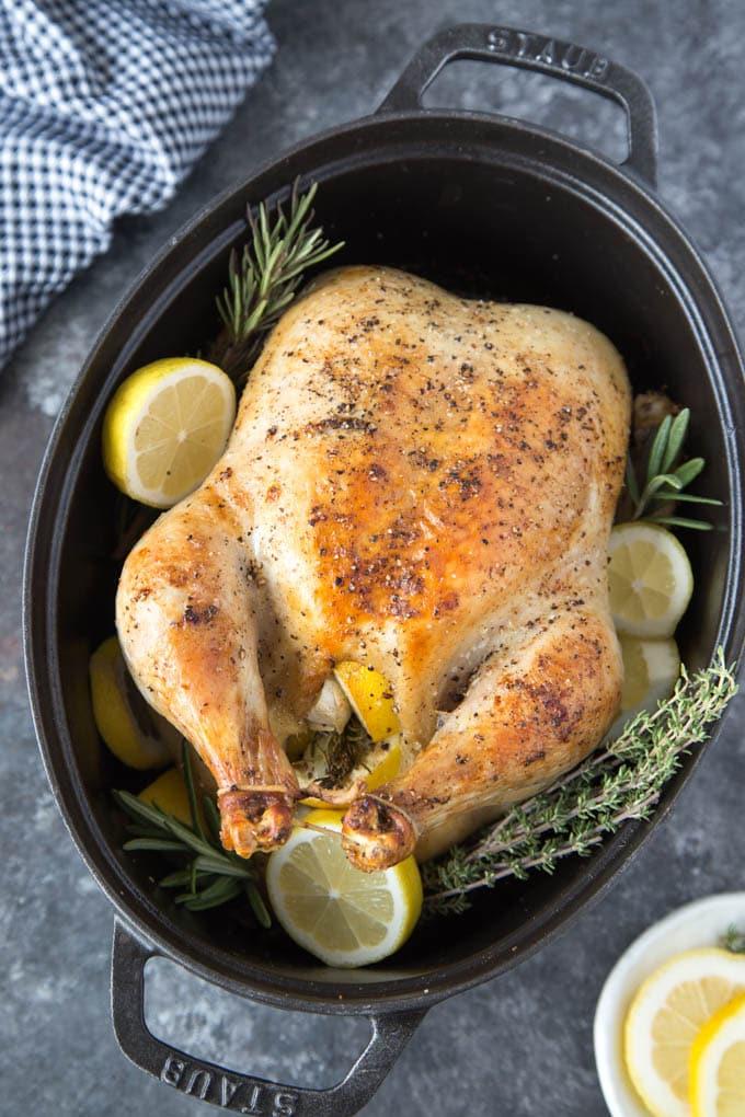 roasted-chicken-lemon-garlic-rosemary cooked