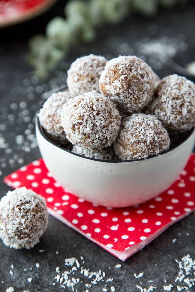 snowball coconut date energy bites 5