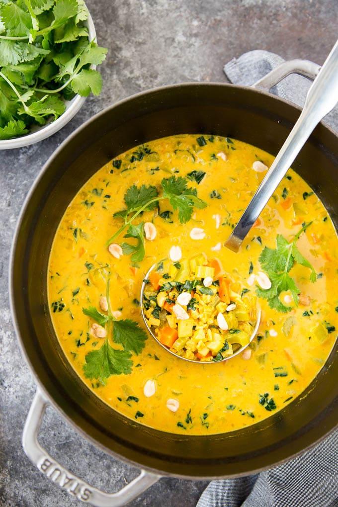 curried cauliflower rice soup 2