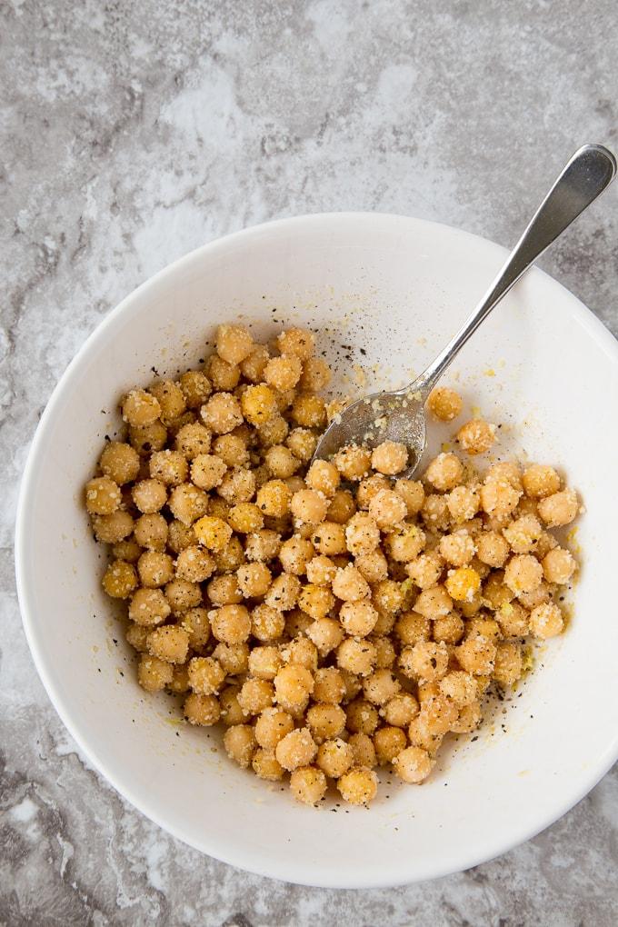 kale caesar chickpeas 1