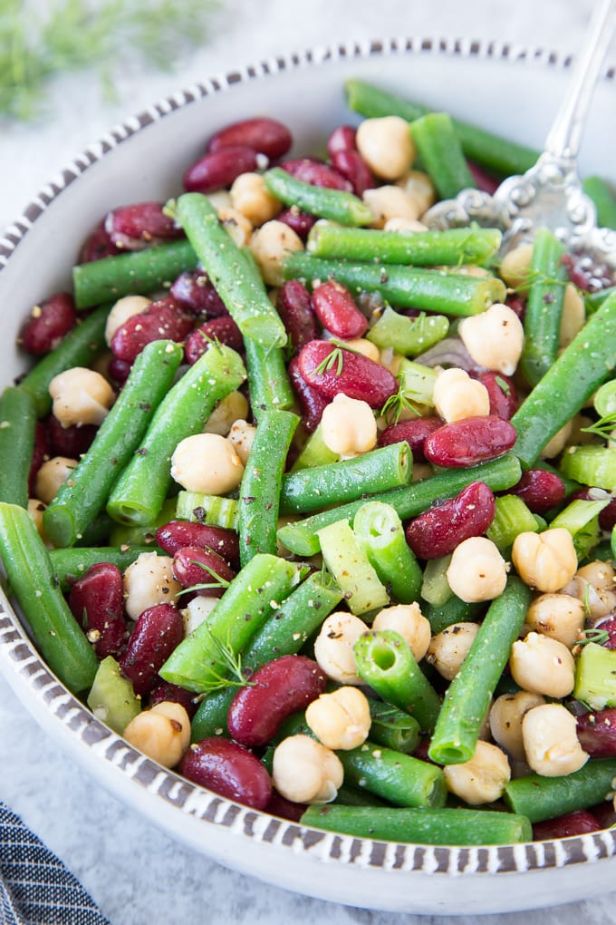 Three Bean Salad featured