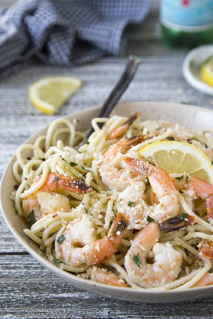 Easy 15 Minute Shrimp Scampi
