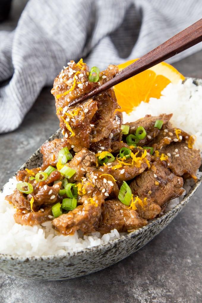 skillet sesame orange beef