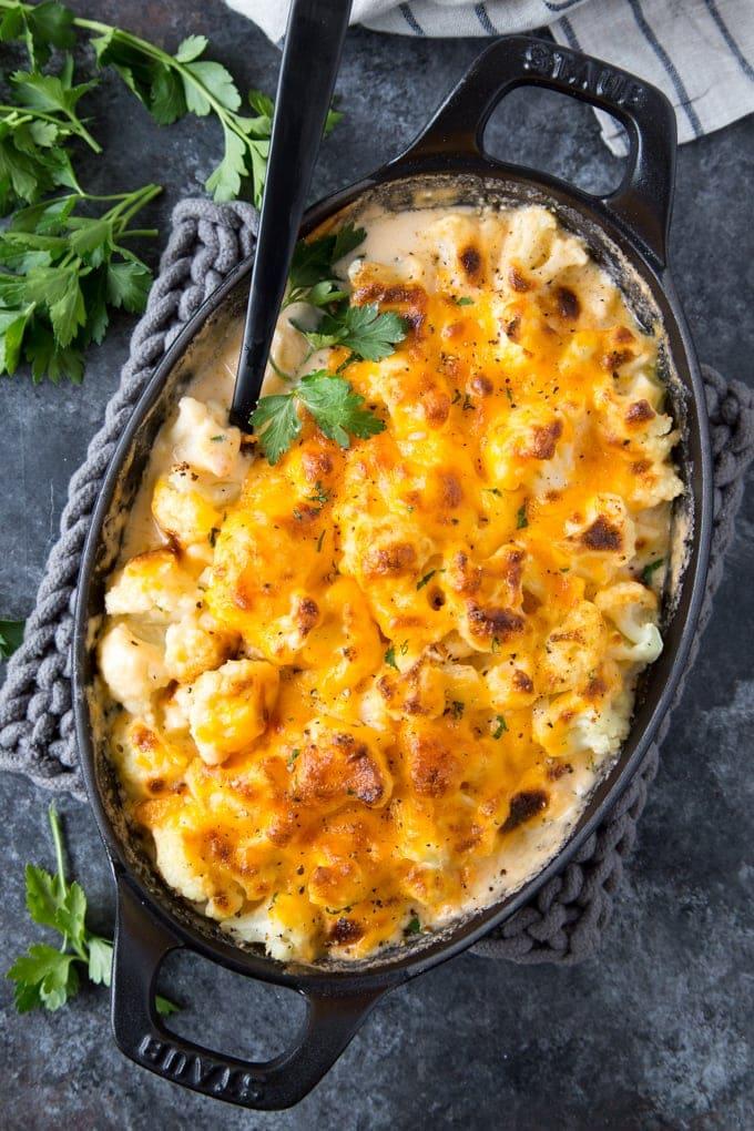 "Cauliflower ""Mac"" & Cheese {Keto, Low Carb}"