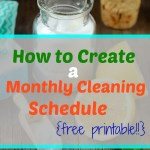 Monthly Cleaning List-Free Weekly Printable!