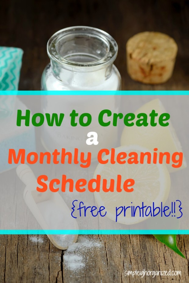 Create a Monthly Cleaning List