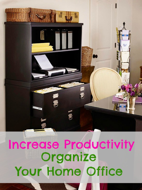 organize the home office to increase productivity