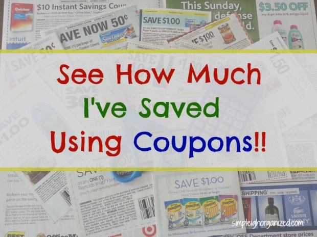 see how much I've saved using coupons
