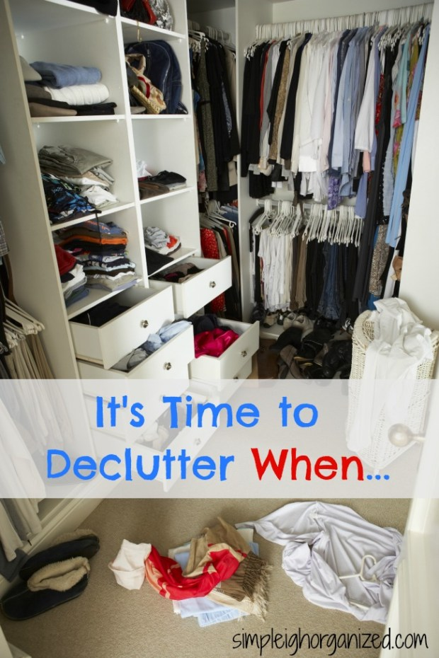 it's time to declutter