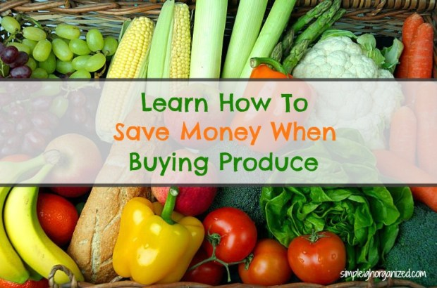 save money when buying produce
