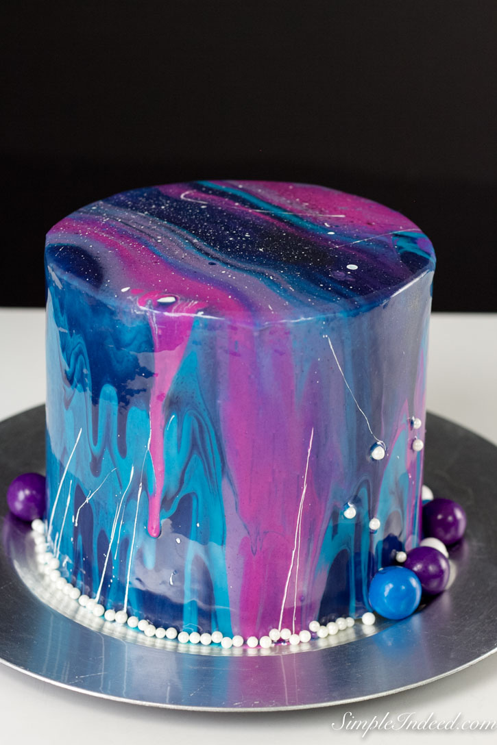 How To Make A Galaxy Mirror Cake And Perks Of Being An Amateur Baker