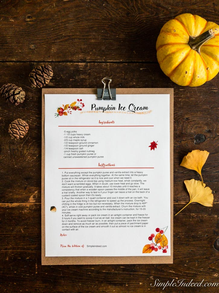thanksgiving recipe card printables  editable