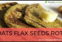 Oats Flax Seeds Roti
