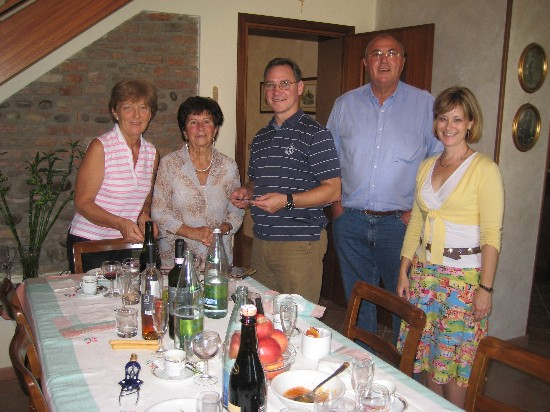 The Dalla Ricca Family prepared lunch AND dinner for us. It was a never ending feast of great food and wine!
