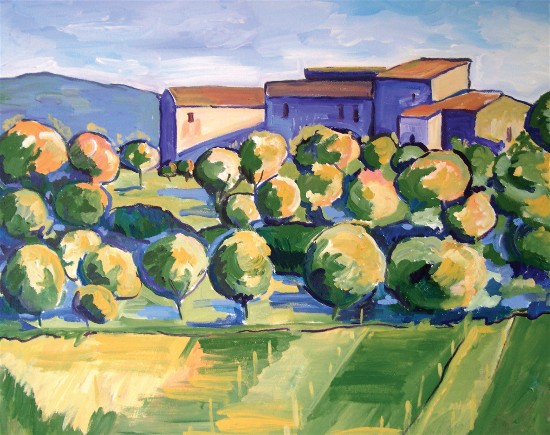 Toscana painting by Melissa Muldoon.