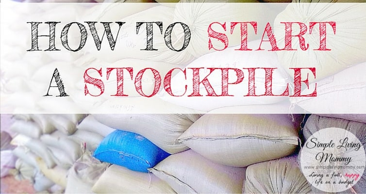 How to Start a Stockpile