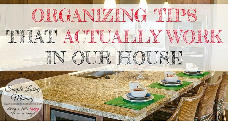 Do you feel like you just can't get organized? This busy mom lists the simple tips and strategies she used to clean up her house and how she keeps it organized now!
