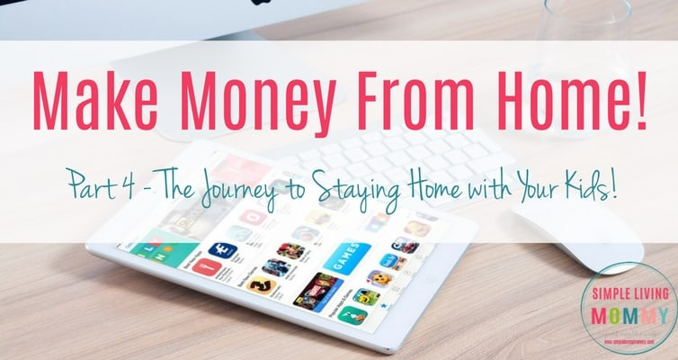 Need to make money from home so you can stay home with your kids? Here are some great tips you might be missing. I really loved the website at the end!
