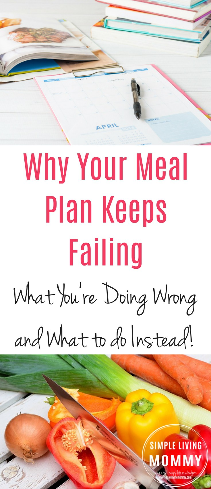 Need to meal plan on a budget but your meal plan keeps failing?  This free meal planning advice will teach you how to make a family meal plan you can actually stick to.  These tips are exactly what I needed!