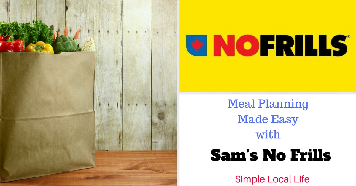 Meal Planning Made Easy with Sam's No Frills- November 17