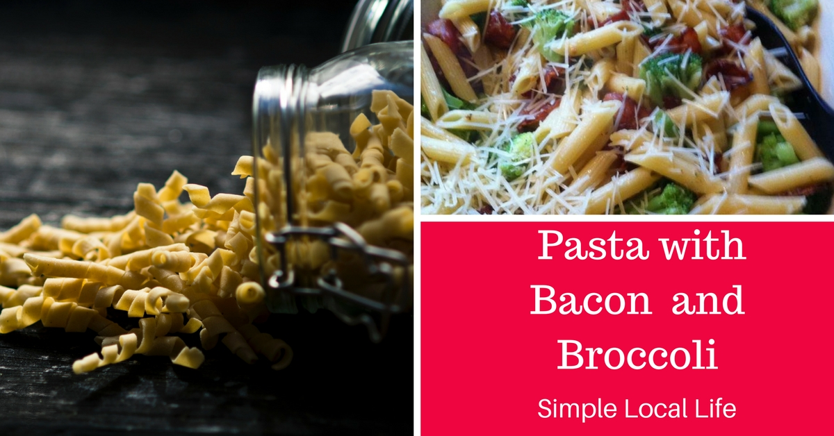Pasta with Bacon and Broccoli