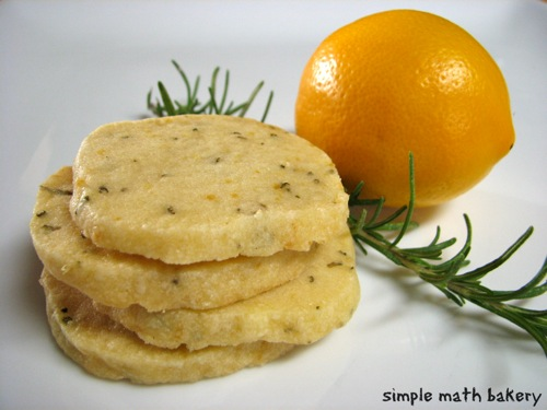 Meyer Lemon Rosemary Shortbread