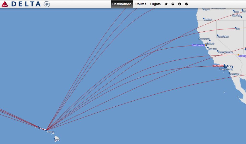 Delta Flight Maps & Destinations