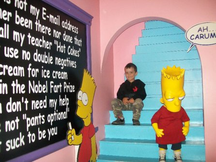 Visite à Niagara Falls Clifton Hill Bart Simpsons