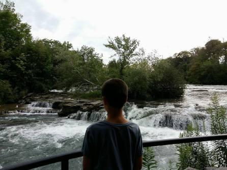 Visite à Niagara Falls en route vers les chutes aux États-Unis