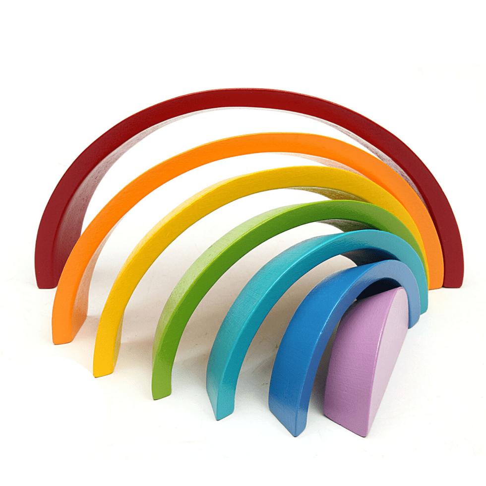 Arc-en-ciel de 7 couleurs en bois