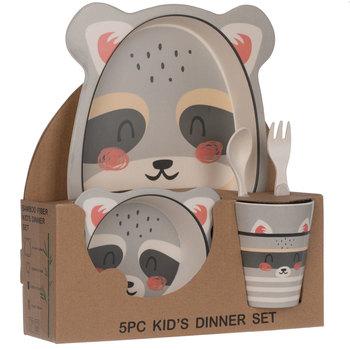 Ensemble pour lunch en bambou raton laveur