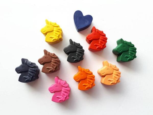 Crayons de cire Licornes