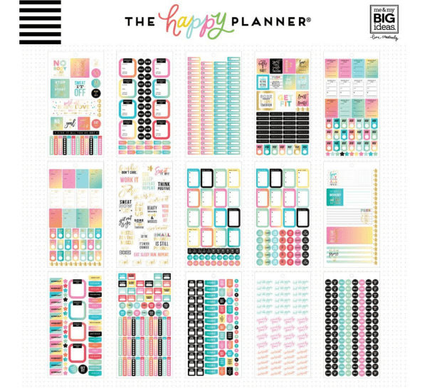 Happy Planner - Fitness 1939 stickers