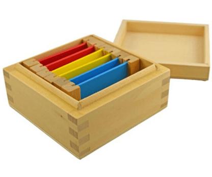 Boite #1 Tablettes de couleurs Montessori