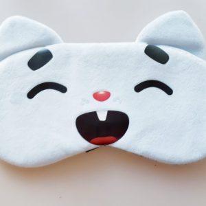Masques en forme de chat bleu pâle