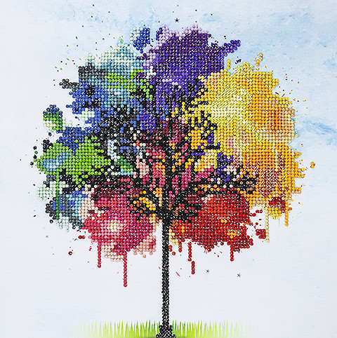 Diamond Painting - Rainbow Tree
