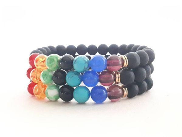 Bracelet Arc-en-ciel - 7 chakras