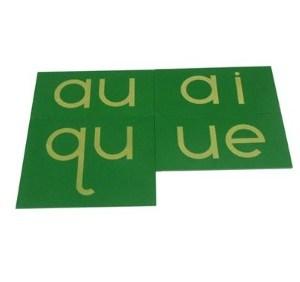 double lettres papier sablé - Carrées