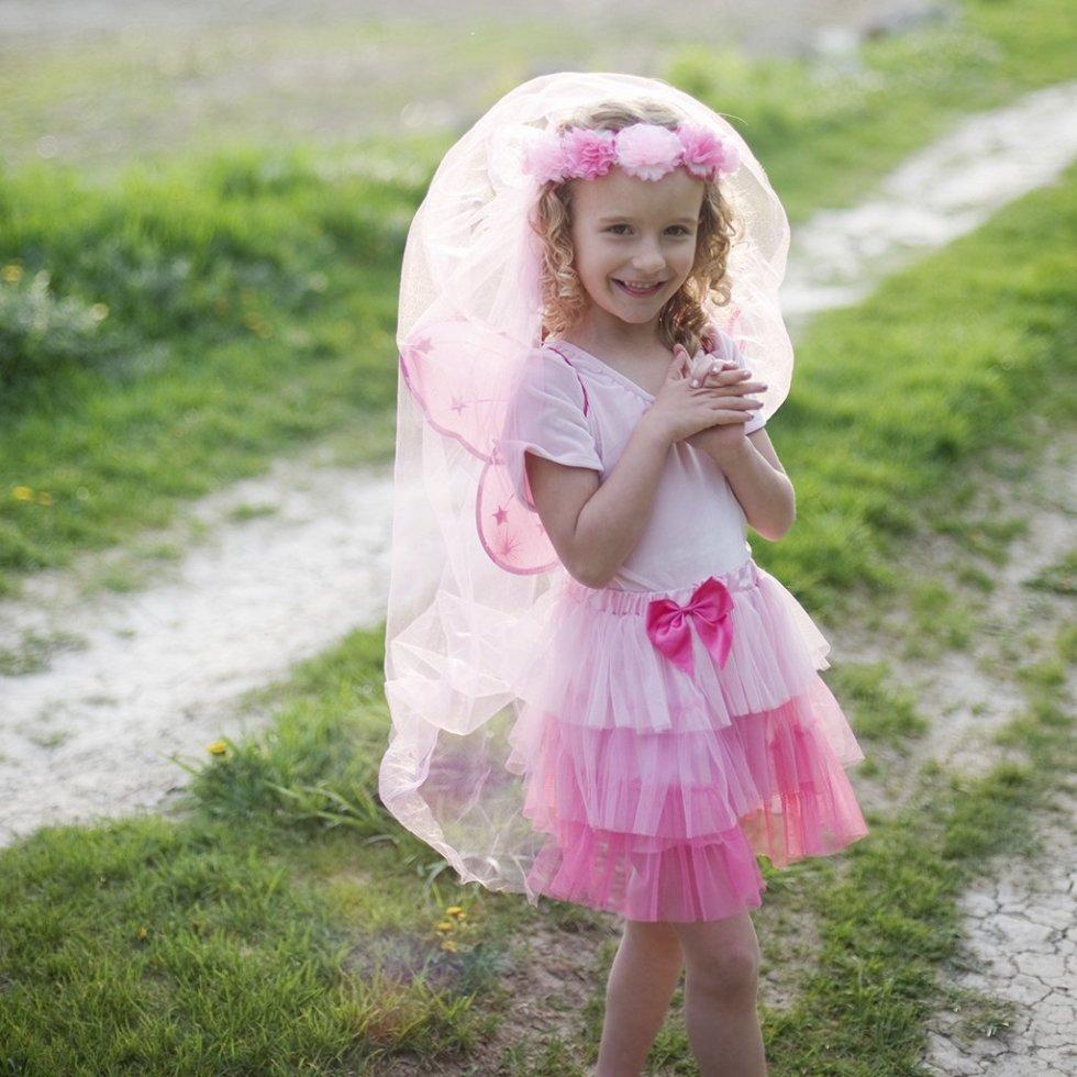 Voile féérique rose pour princesse
