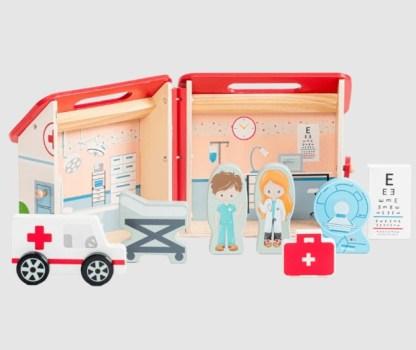 Coffret en bois - Hôpital - À transporter