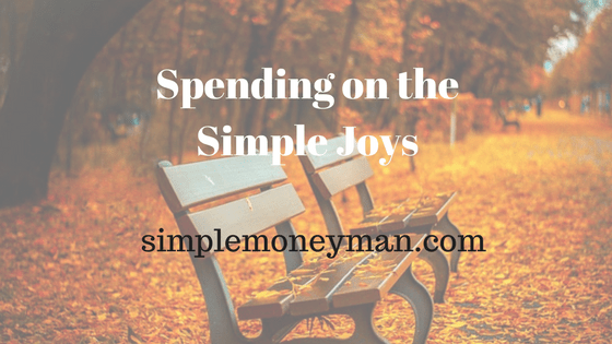 Spending on the Simple Joys simple money man