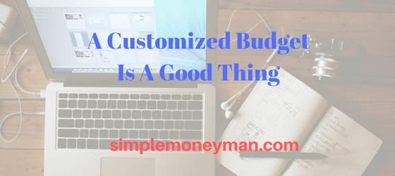 custom budget simple money man