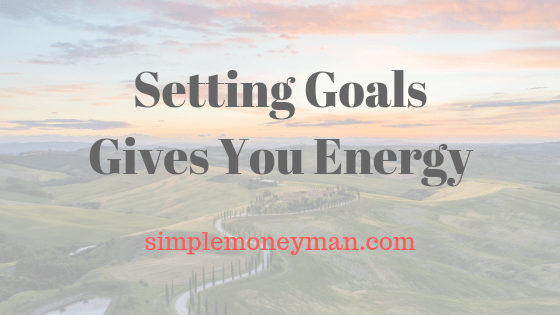Setting Goals Gives You Energy simple money man