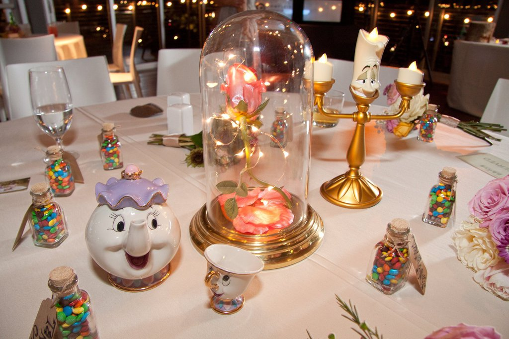 Wedding Reception With DisneyThemed Guest Tables  Simplemost