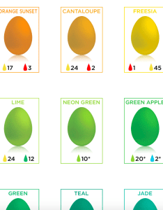 This chart will help you get your easter egg dye the perfect color also dyeing shows every simplemost rh
