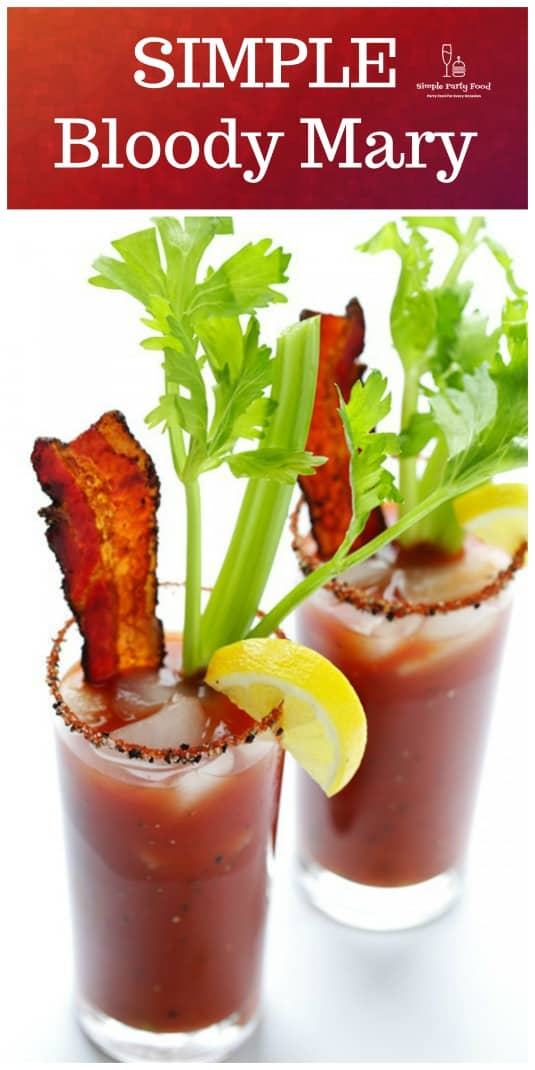 Bloddy Mary's are the ONLY Brunch cocktail worth making #brunch #bloodymary #cocktails #simplepartyfoof
