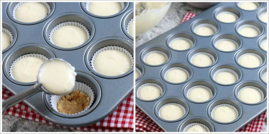 SIMPLE Mini Cheesecakes with Wafer Crust - mini sized cheesecakes are perfect for a brunch, baby shower, Easter or whenever! #minicheesecake ##desserts #simplepartyfood